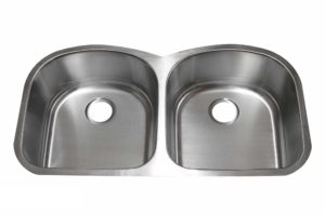 Stainless Steel Kitchen Sink 214 - Dimensions: L 38-1/2 in. x W 20-1/2 in. x D 9 in.