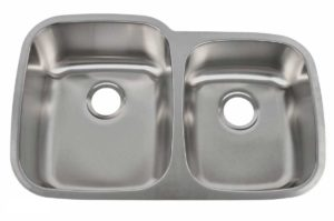 Stainless Steel Kitchen Sink 701_L - Left basin dimensions: L 32 in. x W 20-1/2 in. x D 9 / 7 in.