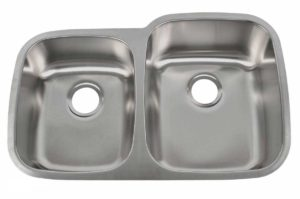 Stainless Steel Kitchen Sink 701_R - Right basin dimensions: L 32 in. x W 20-1/2 in. x D 7 / 9 in.