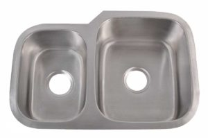 Stainless Steel Kitchen Sink 803 R - Right basin dimensions: L 27-1/8 in. x W 18-1/2 in. x D 7 / 8 in.