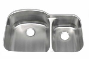 Stainless Steel Kitchen Sink 877 - Dimensions: L 30-3/8 in. x W 19-3/8 in. x D 5-1/2 / 9 in.