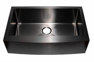 Stainless Steel Kitchen Sink AC1013 Gun Metal Color - Dimensions: L 33 in. x W 20-3/4 in. x D 10 in.
