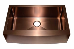 Stainless Steel Kitchen Sink AC1013 Copper Color - Dimensions: L 33 in. x W 20-3/4 in. x D 10 in.