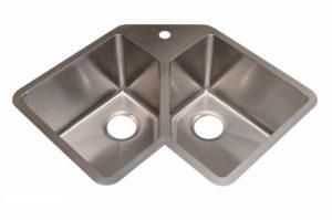 Stainless Steel Kitchen Sink HA347 - Dimensions: L 32-3/4 in. x W 22-3/4 in. x D 10 in.