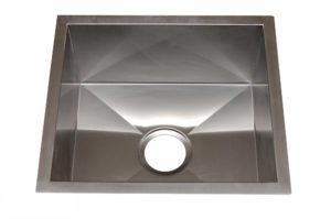 Stainless Steel Kitchen Sink HBB1818 - Dimensions: L 18 in. x W 18 in. x D 10 in.