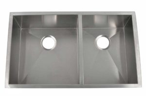 Stainless Steel Kitchen Sink HBO3320A - Left basin dimensions: L 32 in. x W 20 in. x D 10 in.