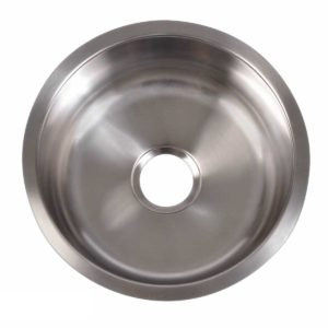Stainless Steel Kitchen Sink R450 - Dimensions: Radius 17-3/4 in. x D 7 in.