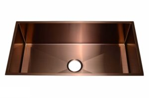 Stainless Steel Kitchen Sink SB1294 Copper Color - Dimensions: L 33-1/2 in. x W 17-1/2 in. x D 10 in.