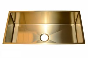 Stainless Steel Kitchen Sink SB1294 Gold Color - Dimensions: L 33-1/2 in. x W 17-1/2 in. x D 10 in.
