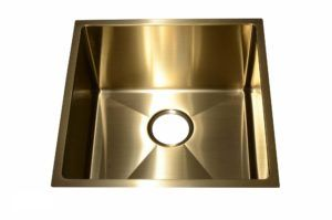 Stainless Steel Kitchen Sink SB1295 Gold Color - Dimensions: L 17-1/2 in. x W 17-1/2 in. x D 10 in.