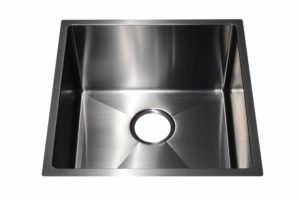 Stainless Steel Kitchen Sink SB1295 Gun Metal Color - Dimensions: L 17-1/2 in. x W 17-1/2 in. x D 10 in.