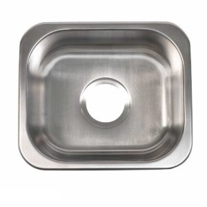 Stainless Steel Kitchen Sink T1214 - Dimensions: L 12-1/2 in. x W 14-1/2 in. x D 6-1/2 in.