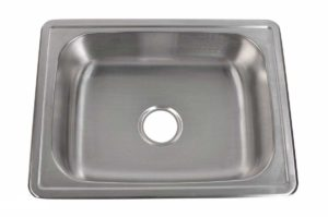 Stainless Steel Kitchen Sink T2519 - Dimensions: L 25 in. x W 19 in. x D 6 in.